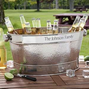 cooler tubs for drinks engraved stainless steel outdoor cooler tub