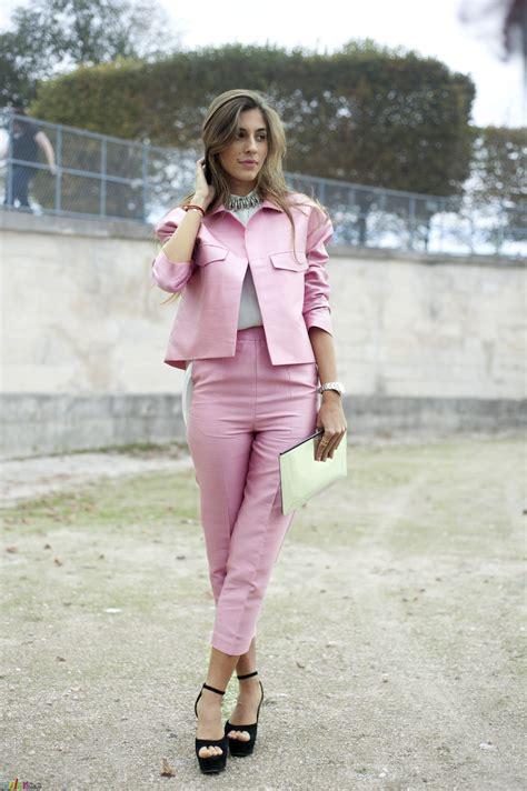 pale pink pfw pale pink suit the color stalker