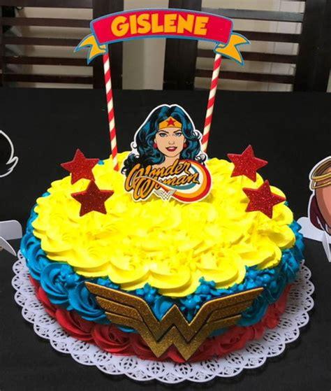 topo de bolo mulher maravilha no elo7 delliart cc0da6