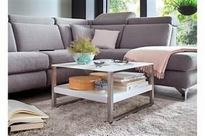 Table Basse Blanche Et Verre : table basse design blanche et verre blanc cbc meubles ~ Teatrodelosmanantiales.com Idées de Décoration