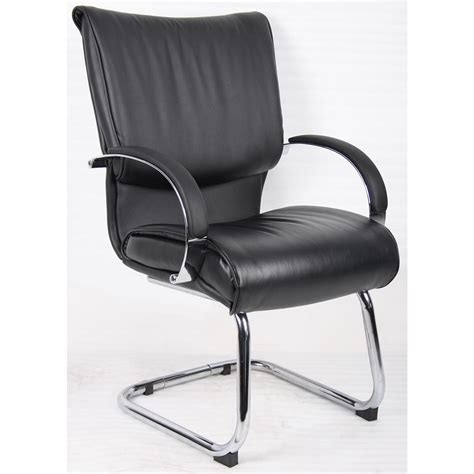 174 executive mid back leather guest chair 168532