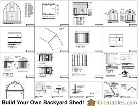 12x16 Shed Plans Material List by 12x16 Gambrel Shed Plans 12x16 Barn Shed Plans