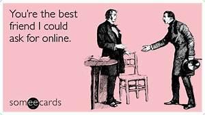 Best Friends Online Facebook Twitter Ecard | Friendship Ecard