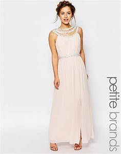 Tfnc london wedding embellished maxi dress in pink lyst for Dressy maxi dresses for wedding