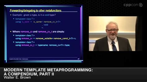 template metaprogramming modern template metaprogramming a compendium part i cppcon 2014 channel 9