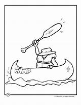Coloring Pages Camping Canoe Camp Summer Theme Activities Clipart Woojr Bear Fish Travel Traditional Print Crafts Wood Designlooter Picolour 880px sketch template