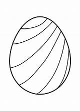 Easter Egg Coloring Pages Eggs Printable Striped Templates Prinables Colouring Printables Outline Template Spring Crafts Coloringpagesonly 4kids Chick sketch template