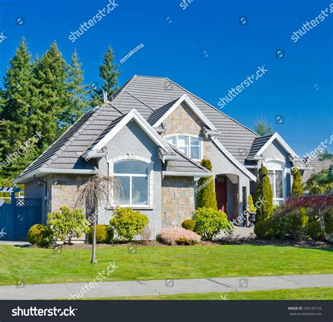 Custom Built Luxury Home Residential Neighborhood Stock