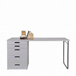 Bureau Avec Rangement : bureau rangement en bois fsc sam wood par ~ Teatrodelosmanantiales.com Idées de Décoration