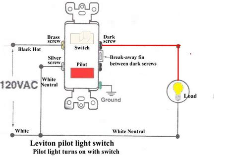 How Wire Switch With Pilot Light Electrical Diy