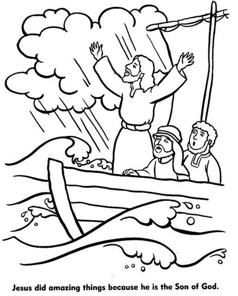miracles  jesus coloring pages jesus miracles