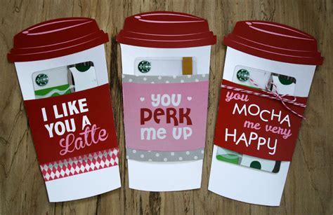 gift card holder latte valentine gift card holder