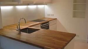 traiter un plan de travail de cuisine en bois brute With plan de travail exterieur bois