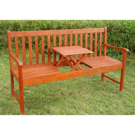 panchina da giardino legno panchina da giardino in legno a 3 posti con tavolino a
