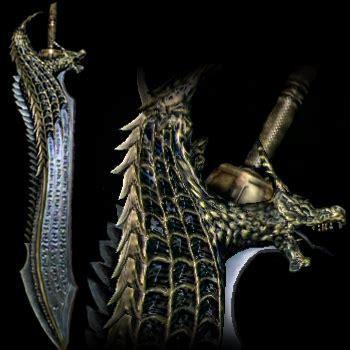 dragons bite swords dragons dogma fantasy weapons