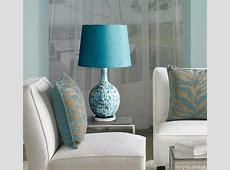 Jordan Teal Ceramic Table Lamp Contemporary Living