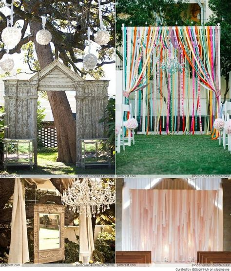 Wedding Backdrop DIY Ideas Sister's getting married