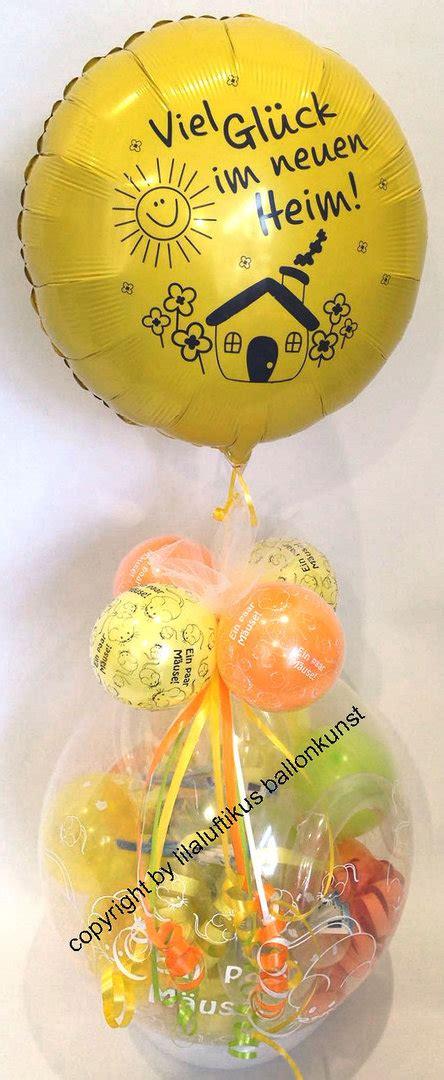 geschenk für neues haus ballongeschenk neues heim einzug neue wohnung neues haus
