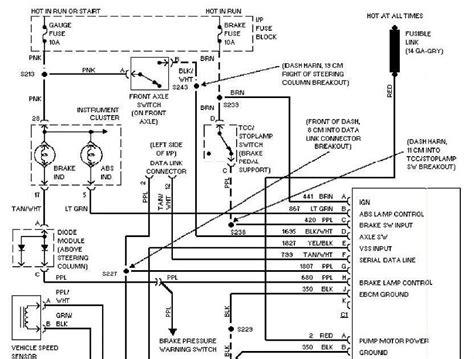 1997 Chevy Cavalier Electrical Diagram by 1997 Chevrolet Blazer Anti Lock Brake Circuits Wiring