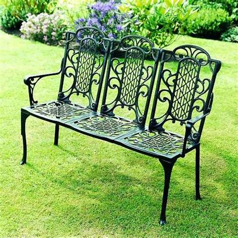 garden bench wrought iron backyards and gardening