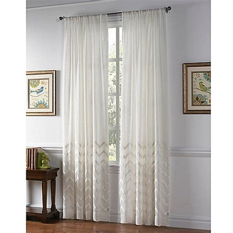 sheer curtains bed bath and beyond callisto home almada rod pocket sheer window curtain panel