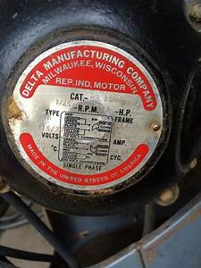 1947 Delta Unisaw W   Original 1 Hp Bullet Motor  Should It Run On 110 Volt Or 220 Volt   Woodworking