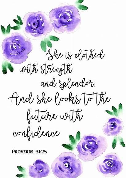 Proverbs Bible Verse Scripture Purple Roses