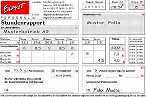 Kalenderwoche Berechnen : stundenrapporte richtig ausf llen anleitung mit ~ Themetempest.com Abrechnung