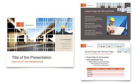 civil engineers powerpoint  template design