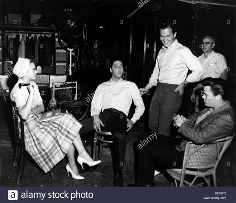 presley smith behind the scenes g i blues 1960 behind the scenes shot of l r juliet
