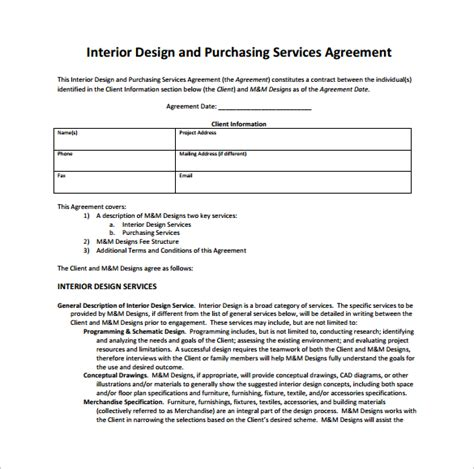 11 Interior Design Contract Templates to Download for Free