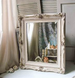 white distressed mirror large ornate from With french style bathroom mirror