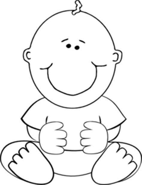 Baby outline icons and vector packs for sketch, adobe illustrator, figma and websites. Sitting Baby Outline Clip Art at Clker.com - vector clip ...