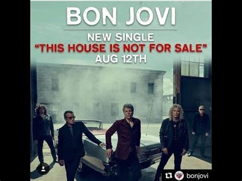 Bon Jovi  This House Is Not For Sale  New Taster August