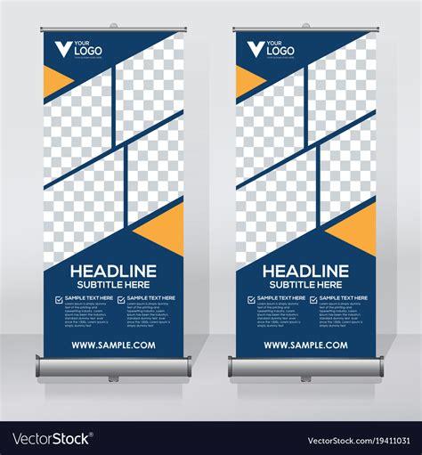 creative roll  banner design template royalty  vector