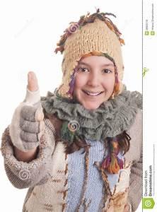 Schönes 10 Jähriges Mädchen : sch nes junges m dchen im warmen winter kleidet daumen sich zeigen stockfoto bild von jung ~ Yasmunasinghe.com Haus und Dekorationen