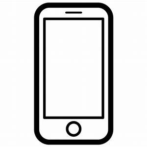 Smartphone iPhone Vector Icon - Free Download Vector Logos ...