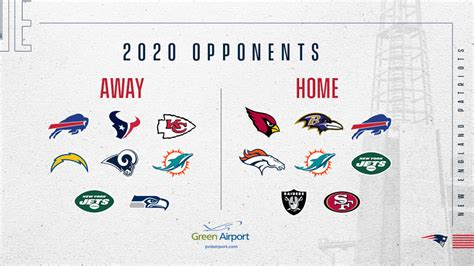 patriots  foes finalized