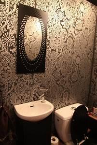 Papier Peint Pour Wc : deco wc papier peint ~ Nature-et-papiers.com Idées de Décoration
