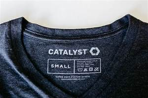 custom t shirt labels custom printed tags real thread With custom neck tag labels