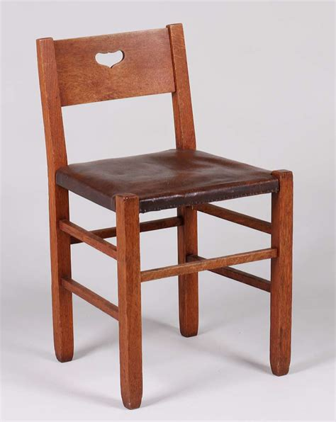 stickley brothers heart cutout vanity chair california