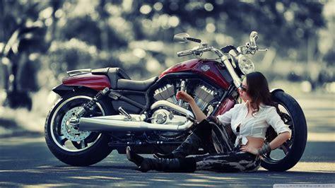 Girl Motorcycle 4k Hd Desktop Wallpaper For 4k Ultra Hd Tv