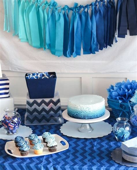 And Blue Birthday Decorations - blue ombre b lovely events