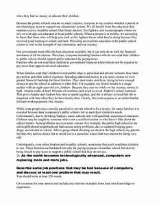 parent essay sample