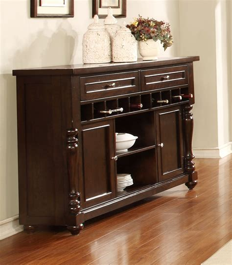 Brown Sideboard by Transitional Edella Brown Sideboard With Open Wine
