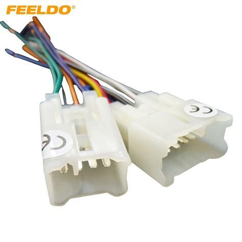 Feeldo Pair Car Oem Audio Stereo Wiring Harness Adapter