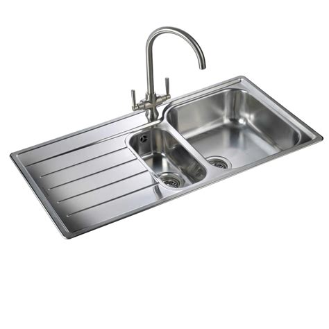 Modern Traditional Kitchen Ideas - rangemaster oakland ol9852 stainless steel sink kitchen sinks taps