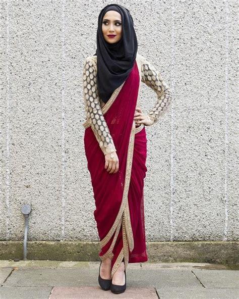 ways  wear hijab  indian ethnic wear