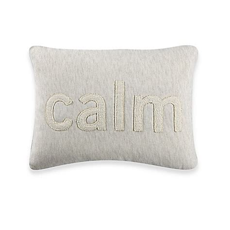 bed bath and beyond sofa pillows kenneth cole reaction home mineral calm oblong throw