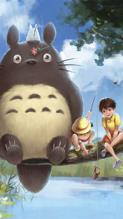 Totoro Neighbor Wallpapers Iphone Anime Mobile Backgrounds